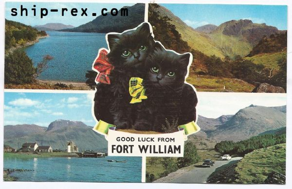 Fort William - multiview postcard